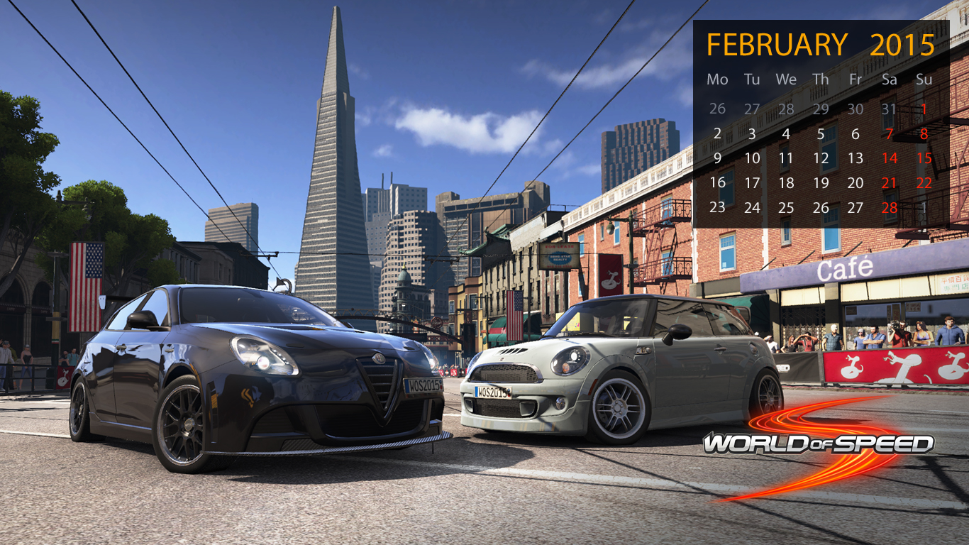 World of Speed February Wallpapers 1366x768